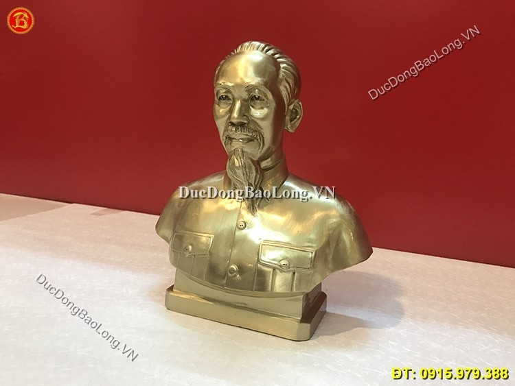 Tượng Bác Hồ Bán Thân Bằng Đồng Cao 30cm