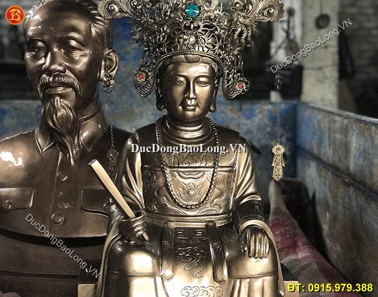Tượng Đồng Bà Chúa Xuân Cao 81cm