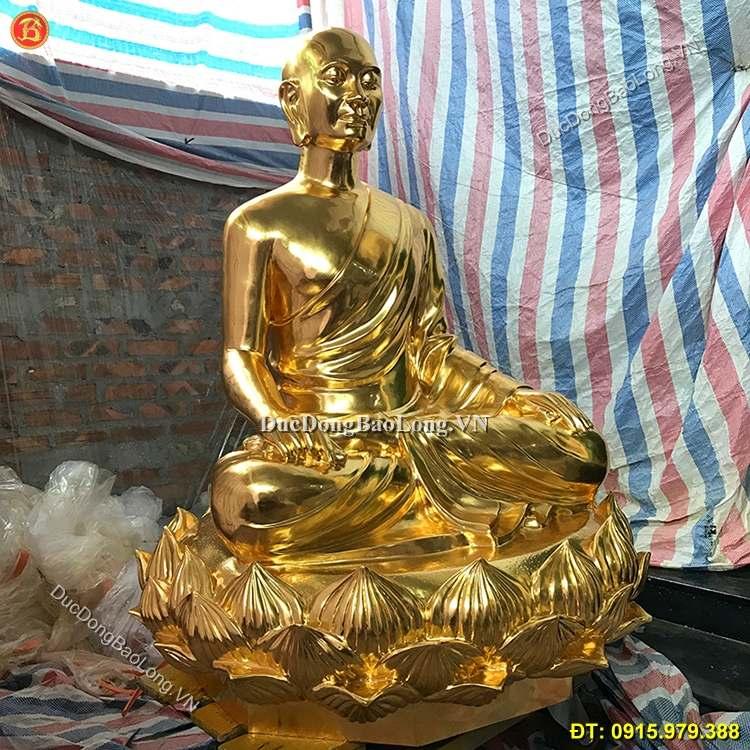 Tượng Đồng Phật Hoàng Trần Nhân Tông Dát Vàng