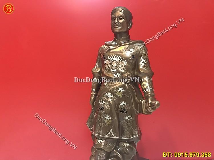 Tượng Đồng Quang Trung Khảm Tam Khí 56cm