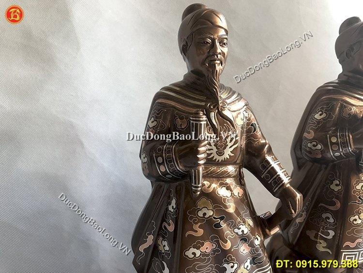 Tượng Trần Quốc Tuấn Khảm Tam Khí Cao 42cm