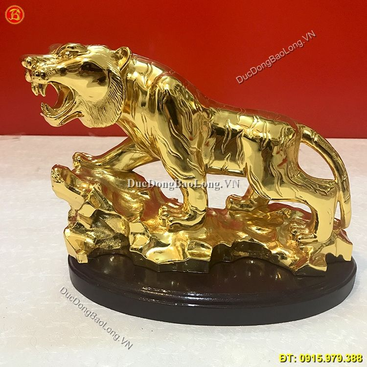 Hổ Bằng Đồng Mạ Vàng 24k Dài 34cm