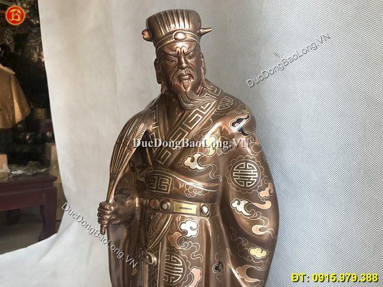 Tượng Khổng Minh Bằng Đồng Tam Khí 55cm