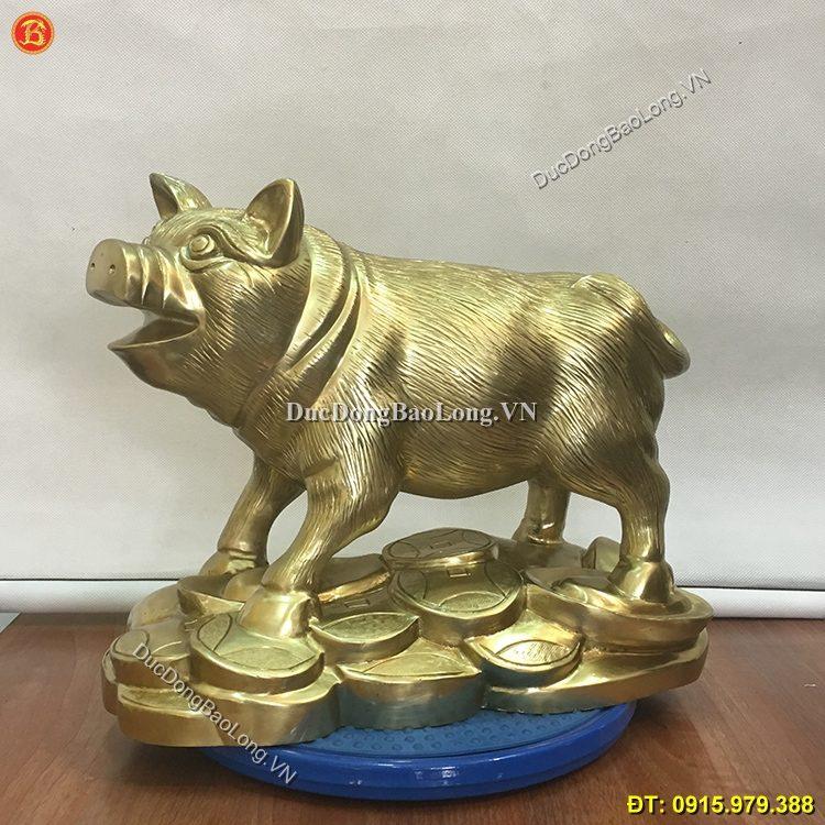 Tượng Lợn Bằng Đồng Cát Tút