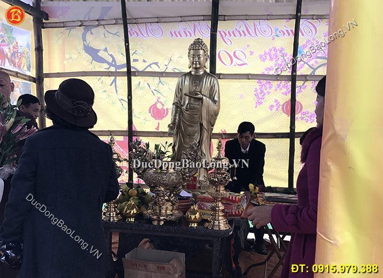 Tượng Phật A Di Đà Bằng Đồng 1m7