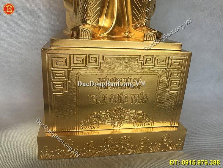 Tượng Đồng Trần Hưng Đạo Dát Vàng 81cm