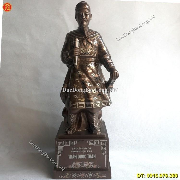 Tượng Đồng Trần Hưng Đạo Tam Khí Cao 61cm