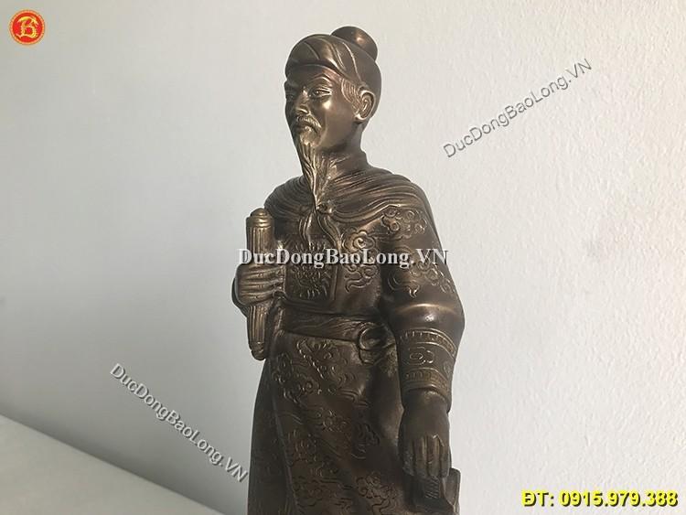 Tượng Trần Hưng Đạo 42cm Màu Giả Cổ
