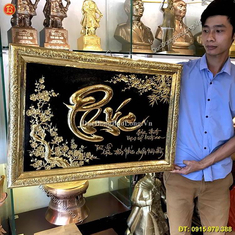 Tranh Đồng Chữ Phúc Thư Pháp 81cm x 55cm