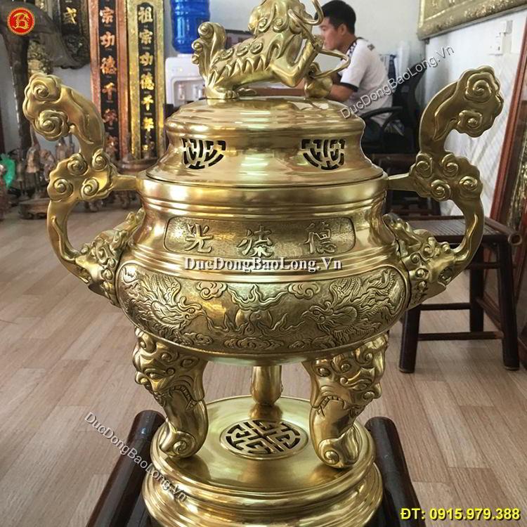 Đỉnh Đồng Thờ Cúng Bằng Đồng Cát Tút 50cm