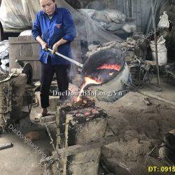 Lễ đúc hạc đồng cho khách hàng Lai Châu