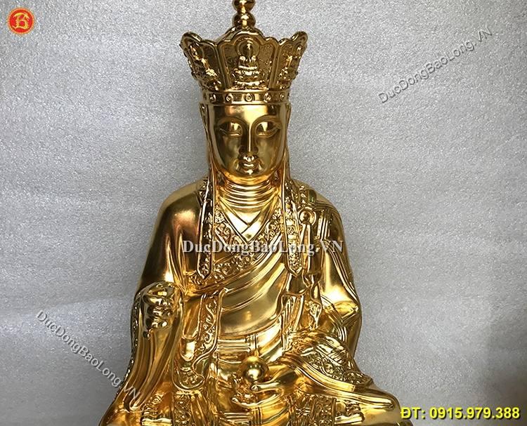 Tượng Đồng Địa Tạng Vương Dát Vàng