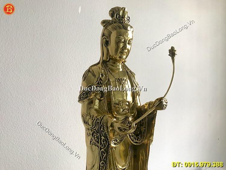 Tượng Đồng Đại Thế Chí Bồ Tát Đứng Cao 61cm