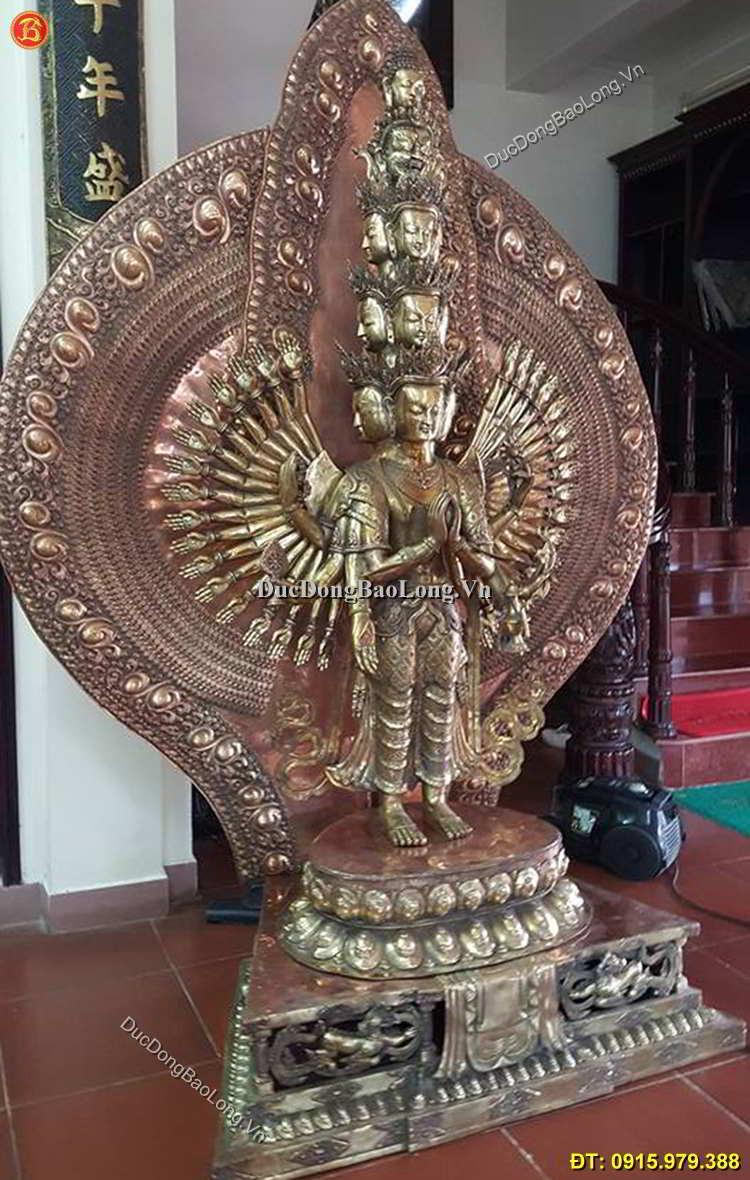 Đúc Tượng Phật Nghìn Mắt Nghìn Tay Cao 2m5