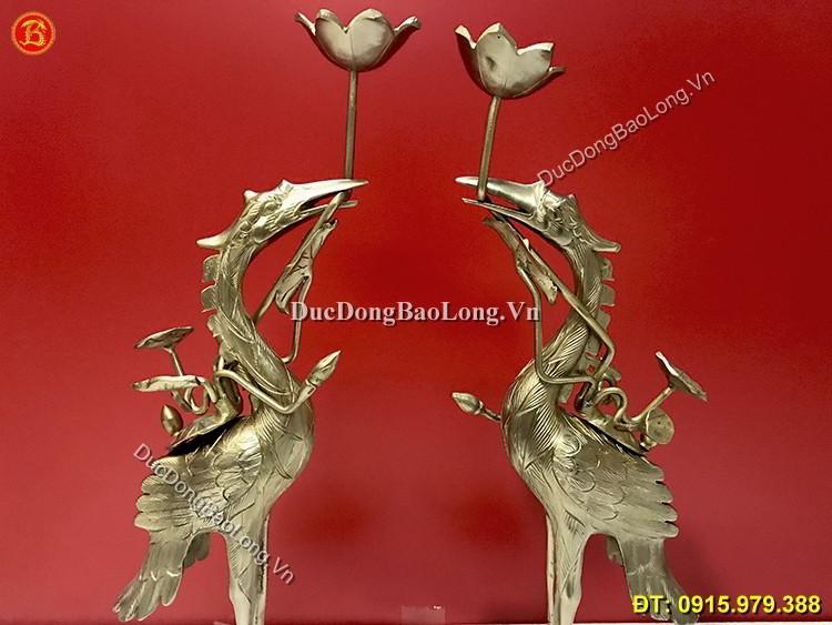 Hạc Đồng Thau Thờ Cúng Cao 50cm