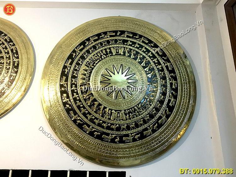 Mặt Trống Đồng Trang Trí Đồng Vàng 1m33