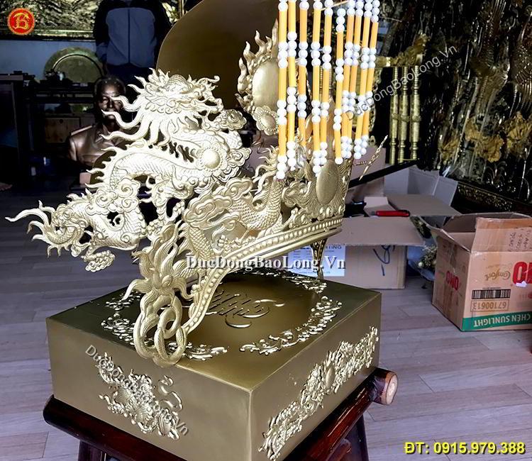 Mũ Ngọc Hoàng Bằng Đồng Thờ Cúng Đền Chùa