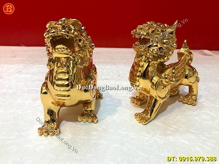 Tỳ Hưu Đồng Mạ Vàng 24k Dài 14cm