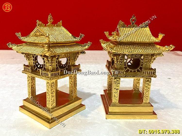 Khuê Văn Các Bằng Đồng Mạ Vàng 24k