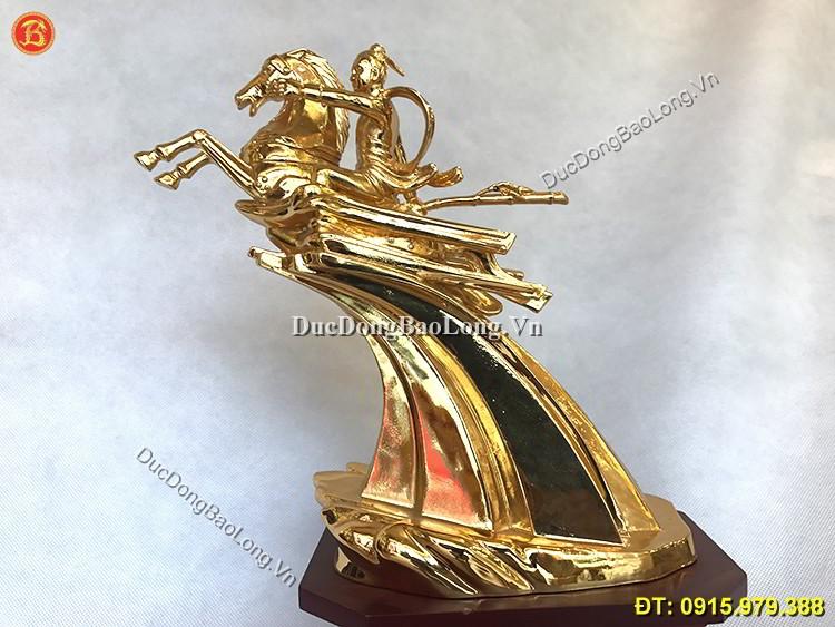 Tượng Thánh Gióng Mạ Vàng 24k Cao 24cm