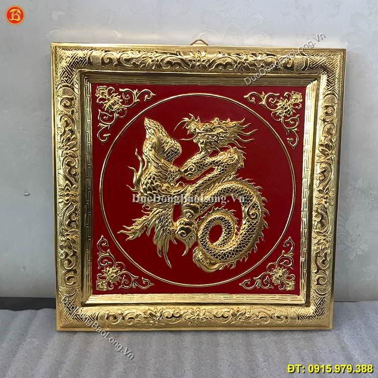 Tranh Chữ Phúc Hóa Rồng Mạ Vàng 24k