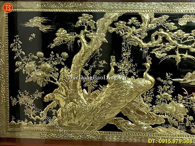 Tranh Đồng Công Tùng Vinh Hoa Phú Quý 1m97