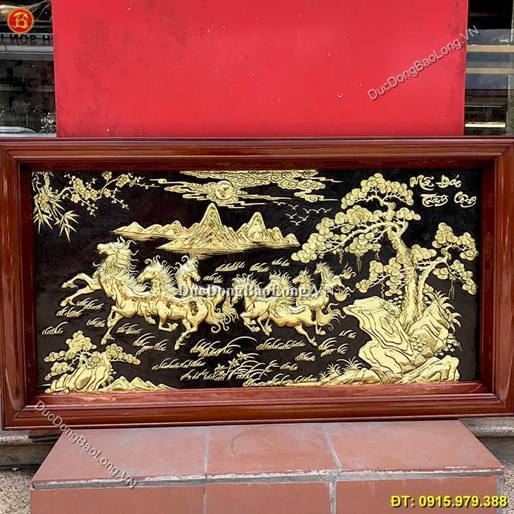 Tranh Đồng Bát Mã Truy Phong 1m27