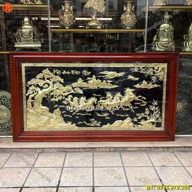 Tranh Đồng Bát Mã Truy Phong 2m3