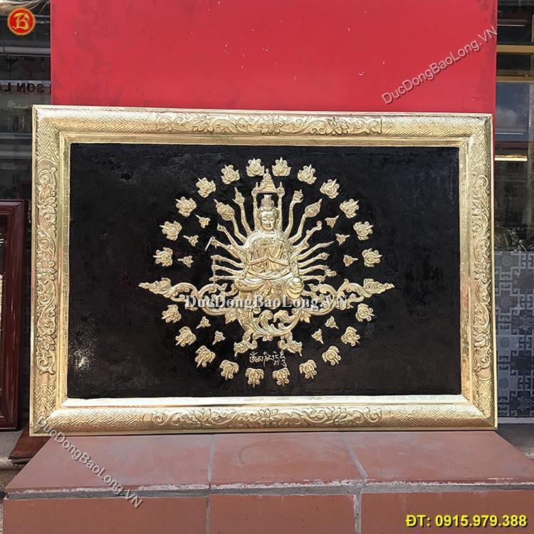 Tranh Phật Bà Nghìn Tay Bằng Đồng 88cm