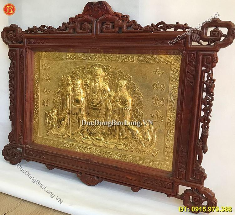 Tranh Đồng Phúc Lộc Thọ Mạ Vàng 24k 1m33