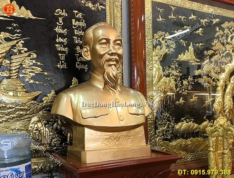 Tượng Đồng Chân Dung Bác Hồ 81cm Mẫu Chuẩn