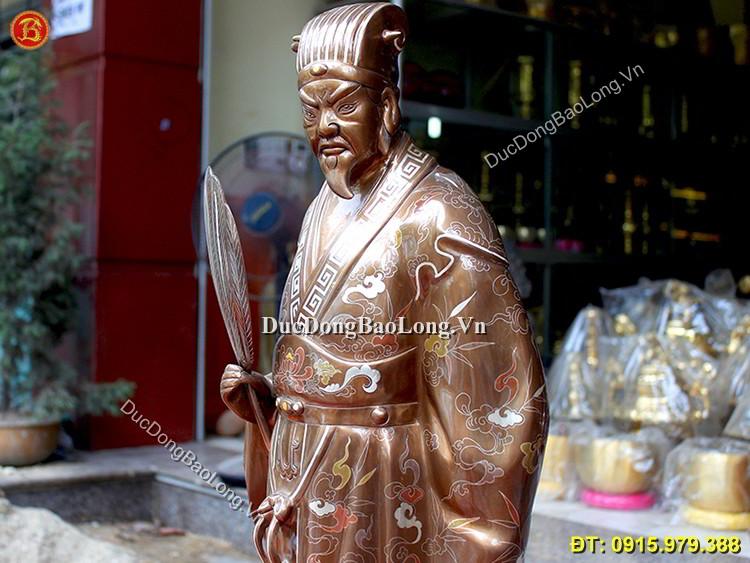 Tượng Khổng Minh Khảm Ngũ Sắc Cao 70cm