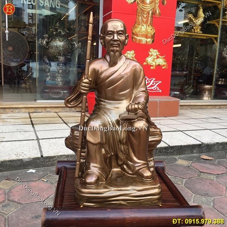 Tượng Lê Hữu Trác Bằng Đồng 42cm