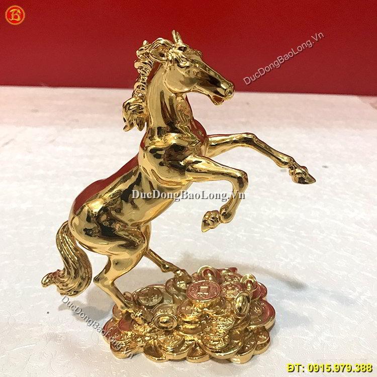 Tượng Ngựa Mạ Vàng 24k Cao 18cm
