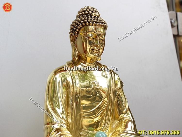 Tượng Đồng Phật Dược Sư Ngồi Cao 48cm