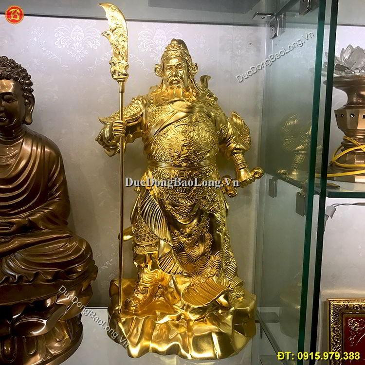 Tượng Quan Công Dát Vàng 9999 Cao 48cm