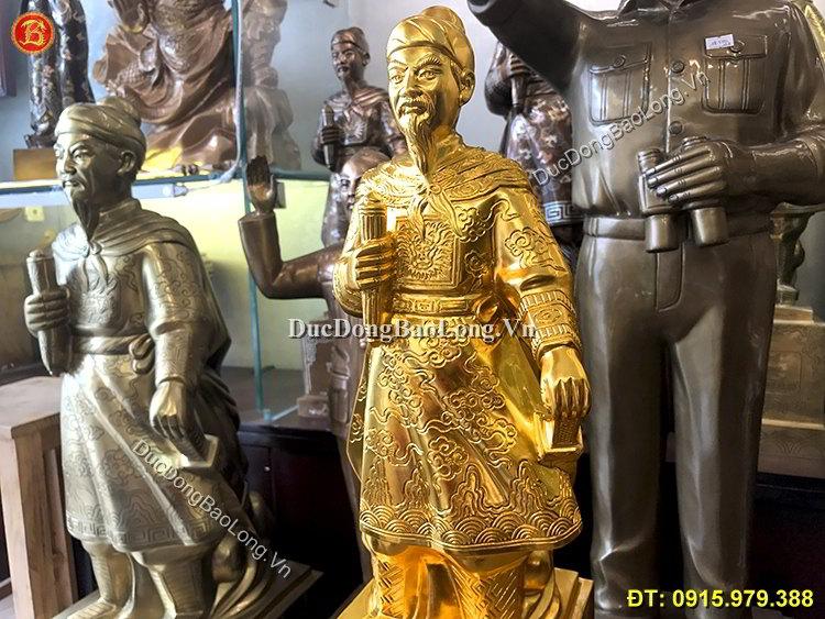 Tượng Trần Hưng Đạo Dát Vàng Cao 48cm