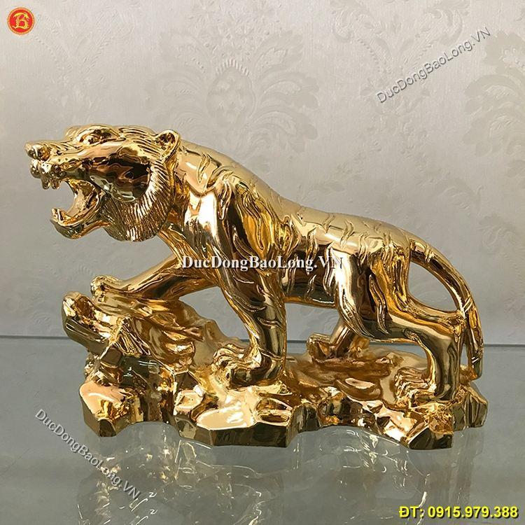 Tượng Hổ Bằng Đồng Mạ Vàng 24k Phong Thủy