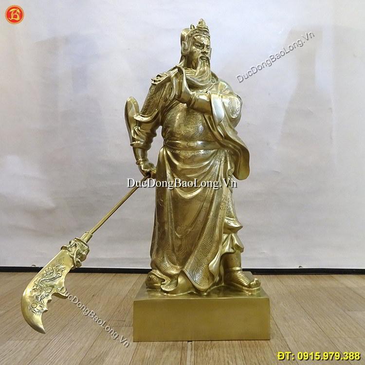 Tượng Đồng Quan Công Bằng Đồng Cát Tút 70cm