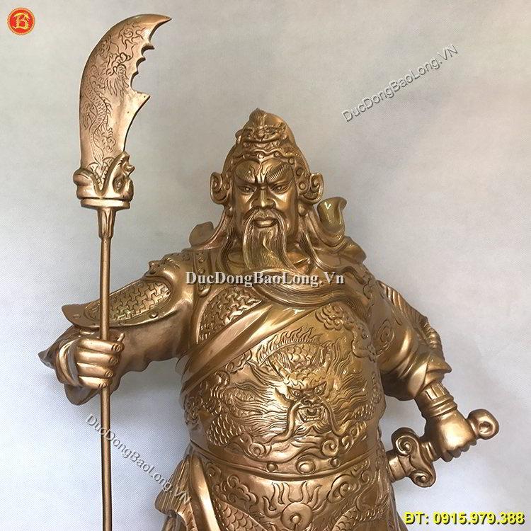 Tượng Quan Vân Trường Bằng Đồng Đỏ 81cm