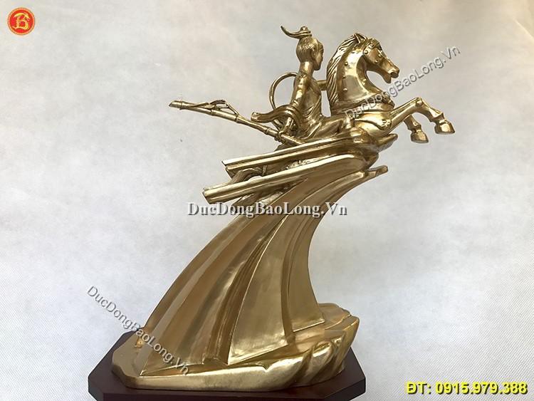 Tượng Thánh Gióng Bằng Đồng Cao 24cm