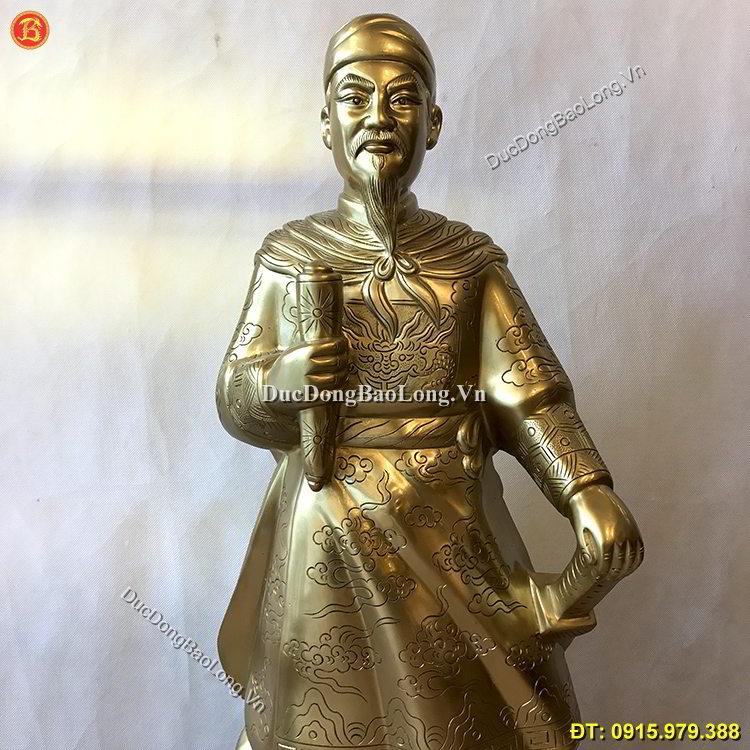 Tượng Trần Hưng Đạo Bằng Đồng Cát Tút 89cm