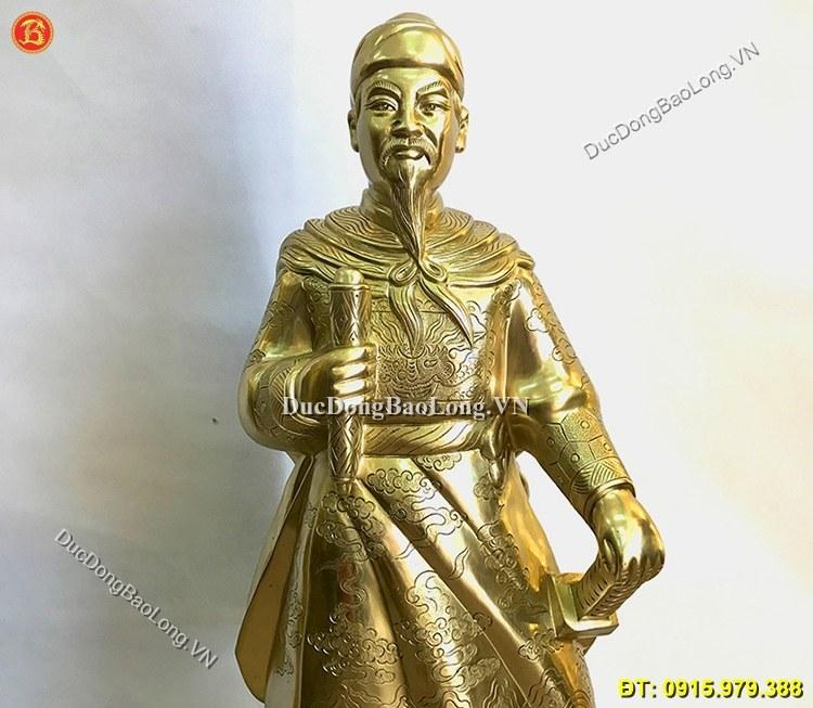 Tượng Trần Quốc Tuấn Bằng Đồng Cao 89cm