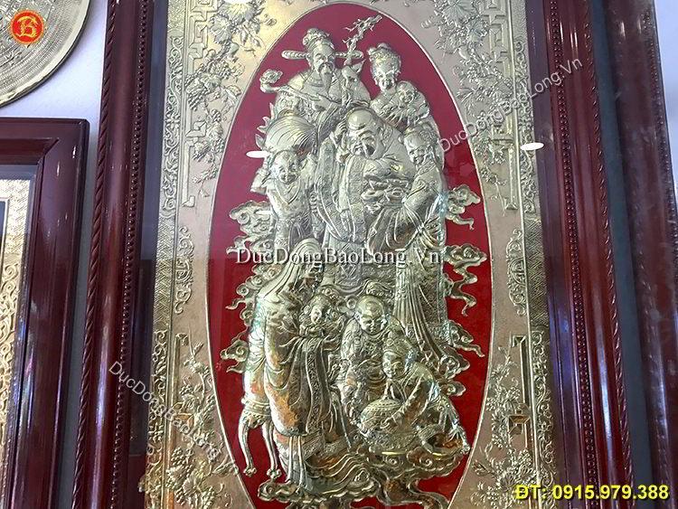 Tranh Phúc Lộc Thọ Bằng Đồng 1m45 x 88cm