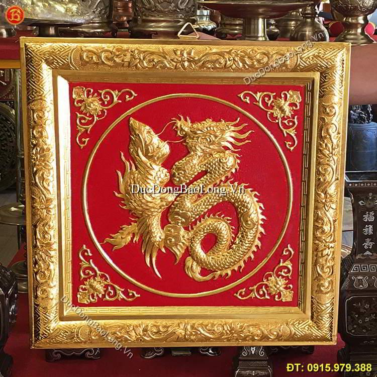 Tranh Đồng Chữ Phúc Mạ Vàng 24k 42cm