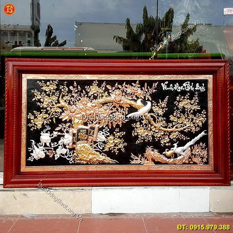 Tranh Vinh Hoa Phú Quý 1m55 Mạ Vàng Mạ Bạc