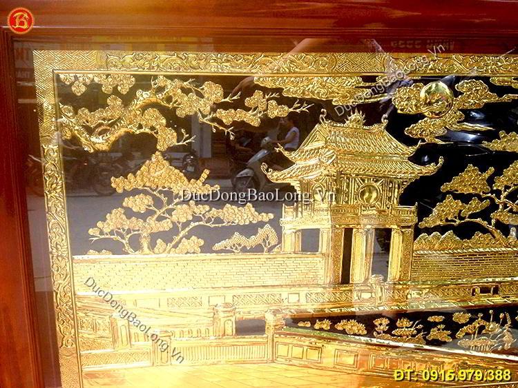 Tranh Khuê Văn Các Mạ Vàng 24k Dài 1m27