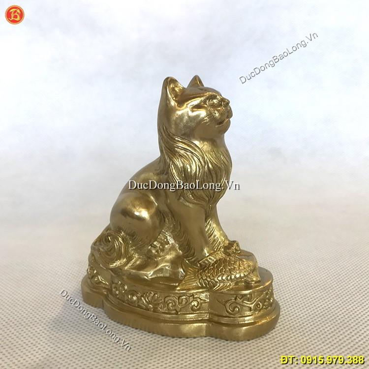 Tượng Mèo Bằng Đồng Cỡ Nhỏ