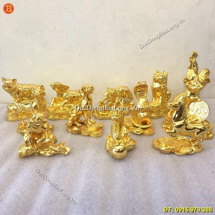 Tượng 12 Con Giáp Mạ Vàng 24k Cao Cấp