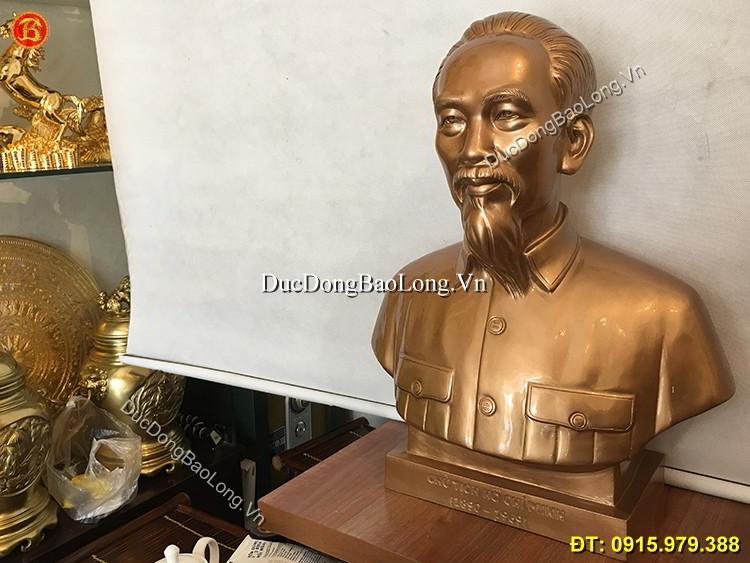 Tượng Đồng Bác Hồ Bán Thân Mẫu Chuẩn
